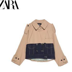 NWT ZARA trench coat jacket
